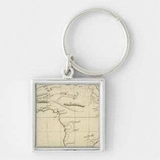 Africa outline key chains