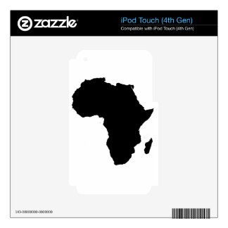 Africa Outline Map Customizable Product iPod Touch 4G Decals