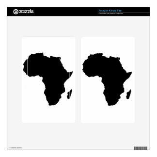 Africa Outline Map Customizable Product Kindle Fire Skins