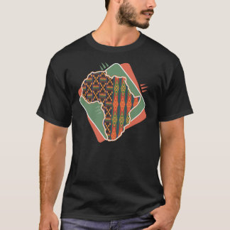Africa Outline Pattern T-Shirt