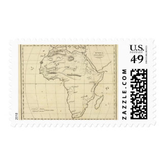 Africa outline postage stamps