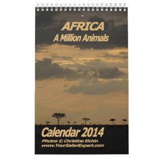 ÁFRICA - página del calendario 2014 de millón de