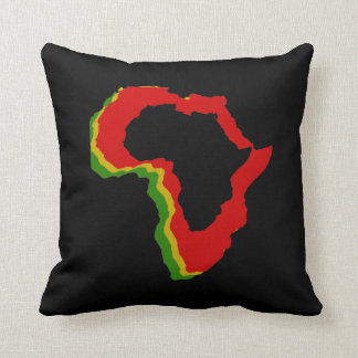 """""""Africa - Pan African Colors"""" [b] Throw Pillow"""