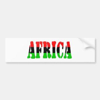 Africa Pan-African Flag Bumper Sticker