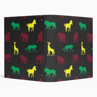Africa Pattern Dark Binder