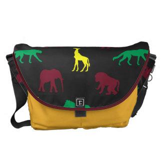 Africa Pattern Dark Courier Bag