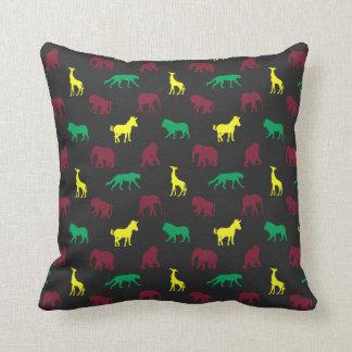 Africa Pattern Dark Throw Pillow