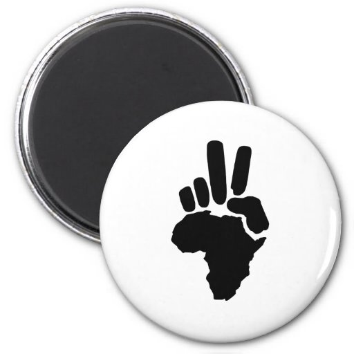 Africa Peace 2 Inch Round Magnet