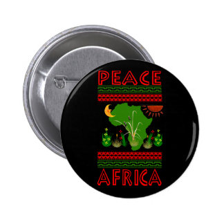 Africa Peace 2 Inch Round Button