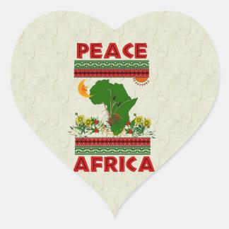 Africa Peace Heart Sticker