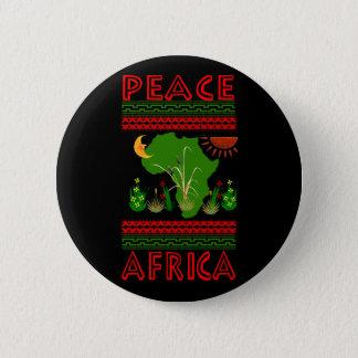 Africa Peace Pinback Button
