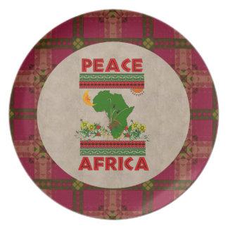 Africa Peace Dinner Plates
