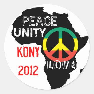 Africa Peace Sticker