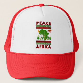 Africa Peace Trucker Hat
