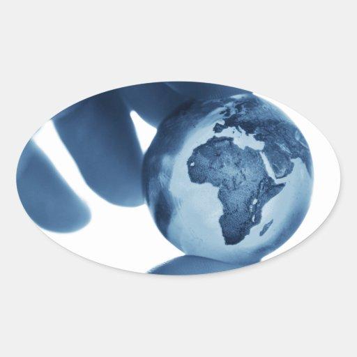 África Pegatina Ovalada
