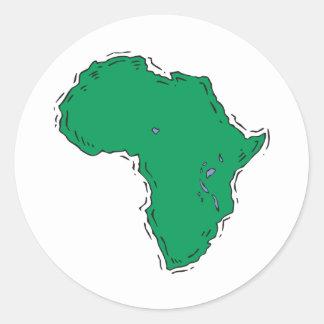 África Pegatina Redonda