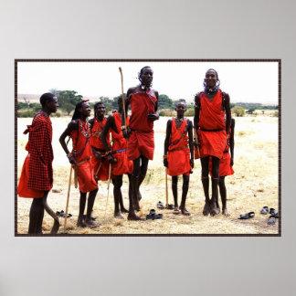 Africa - People in talk Print