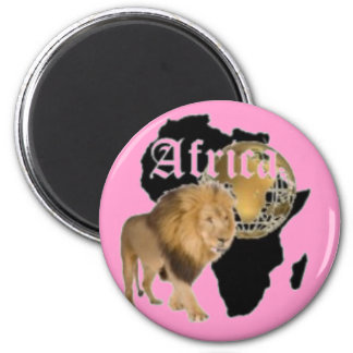 Africa pin button magnet
