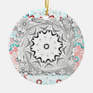 Africa Pink Cyan geometry Ceramic Ornament
