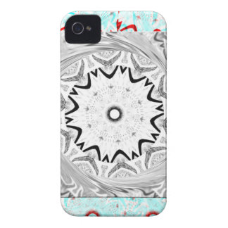 Africa Pink Cyan geometry iPhone 4 Cases