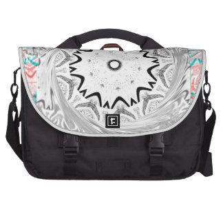 Africa Pink Cyan geometry Laptop Commuter Bag