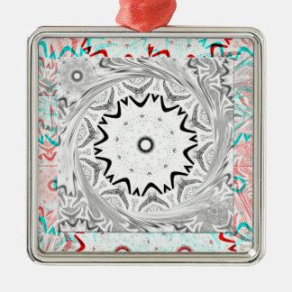 Africa Pink Cyan geometry Metal Ornament