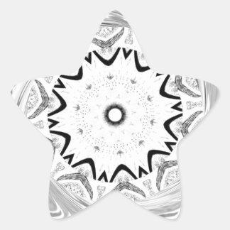 Africa Pink Cyan geometry Star Sticker