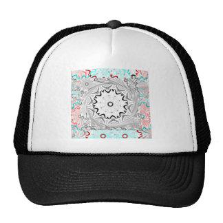 Africa Pink Cyan geometry Trucker Hat