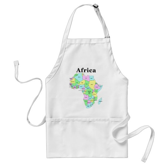 Africa - Political Map Adult Apron