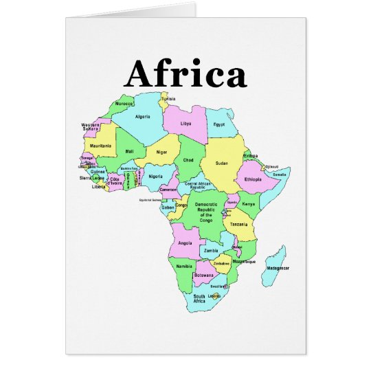 Africa - Political Map Card