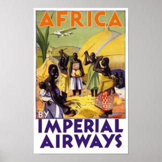 África por Imperial Airways Póster