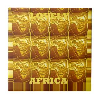 África preciosa África traza el arte colors.png de Azulejo Cuadrado Pequeño