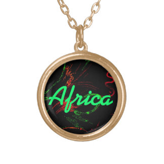 Africa Red Black & Green Necklace