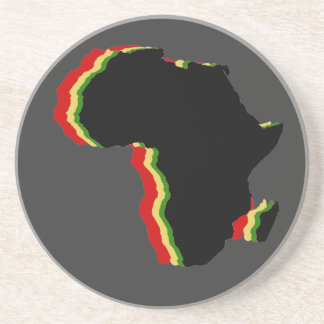 """""""Africa - Red, Gold, Green and Black"""" Sandstone Coaster"""