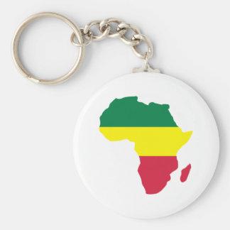 Africa Reggae Basic Round Button Keychain