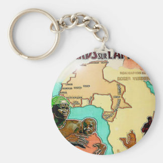 AFRICA RETRO MAP KEYCHAIN