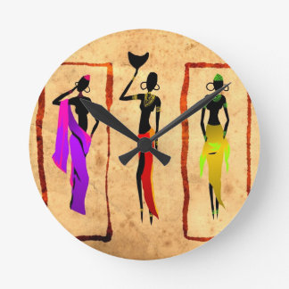 Africa retro vintage style gifts 18 round clock