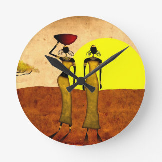 Africa retro vintage style gifts 24 round clock