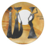 Africa retro vintage style gifts 28 dinner plates