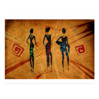 Africa retro vintage style gifts 31 postcard