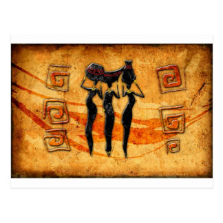 Africa retro vintage style gifts 36 postcard