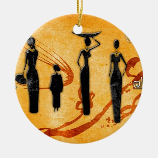 Africa retro vintage style gifts 38 ceramic ornament