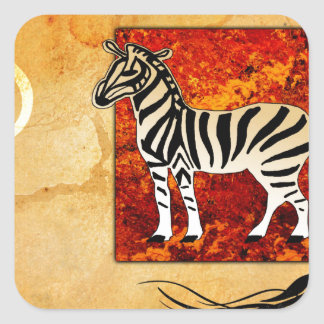 Africa retro vintage style gifts 49 square sticker