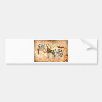 Africa retro vintage style gifts 50 bumper stickers