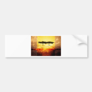 Africa retro vintage style gifts 56 car bumper sticker