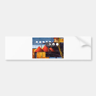 Africa retro vintage style gifts AF078 Car Bumper Sticker
