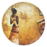 Africa retro vintage style gifts AF087 Dinner Plates