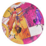 Africa retro vintage style gifts AF088 Party Plates