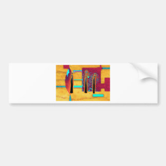Africa retro vintage style gifts AF094 Car Bumper Sticker