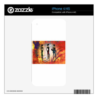 Africa retro vintage style gifts AF096 Decal For iPhone 4